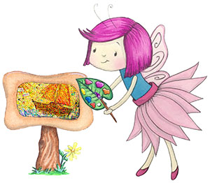 Fairy doing art